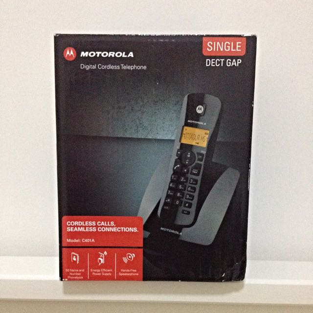 reserved motorola c401a single digital cordless phone electronics rh my carousell com Motorola Cordless Phone Battery Replacement Motorola Cordless Phone System