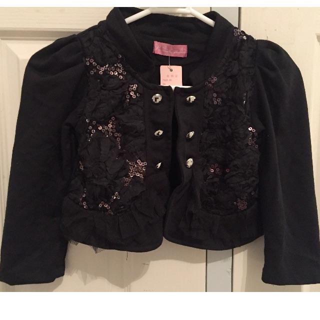 Girl black jacket