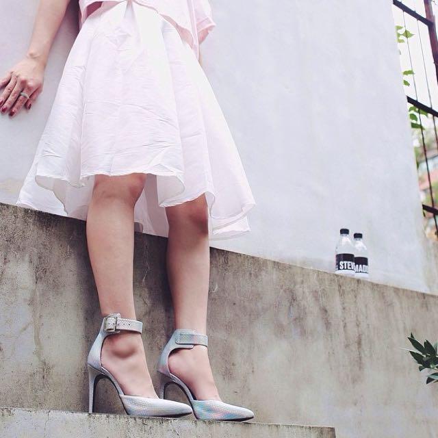 氣質白蓬中長裙