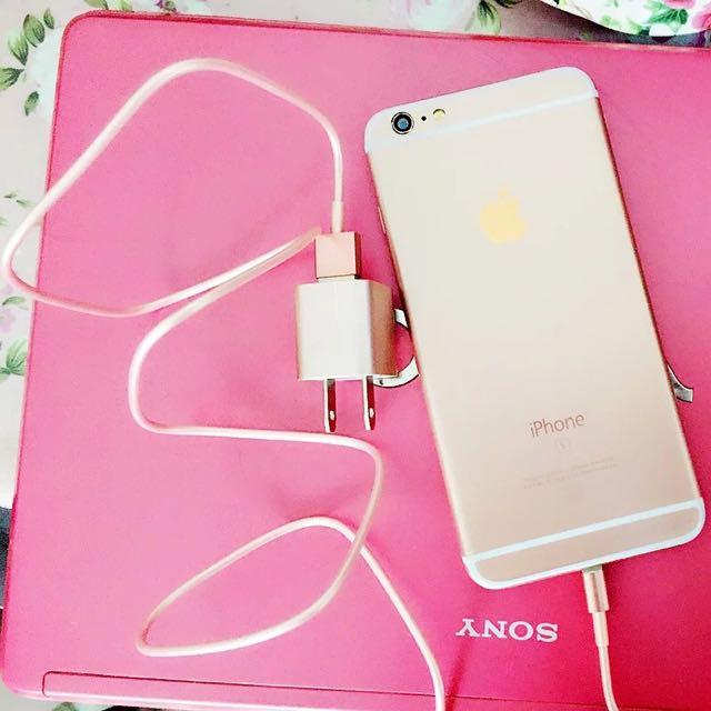 Iphone玫瑰金usb充電組