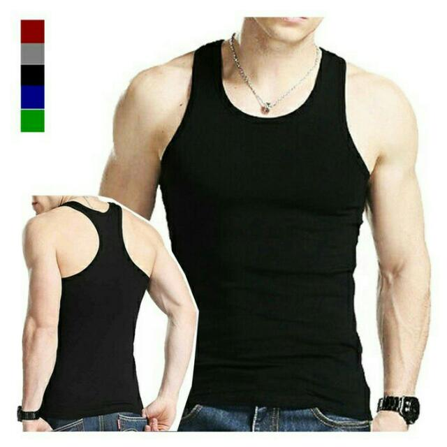 Kaos Singlet Fitness Gym spandek