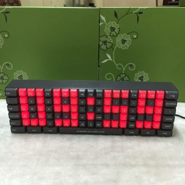 全新數位鍵盤造型LED鬧鐘