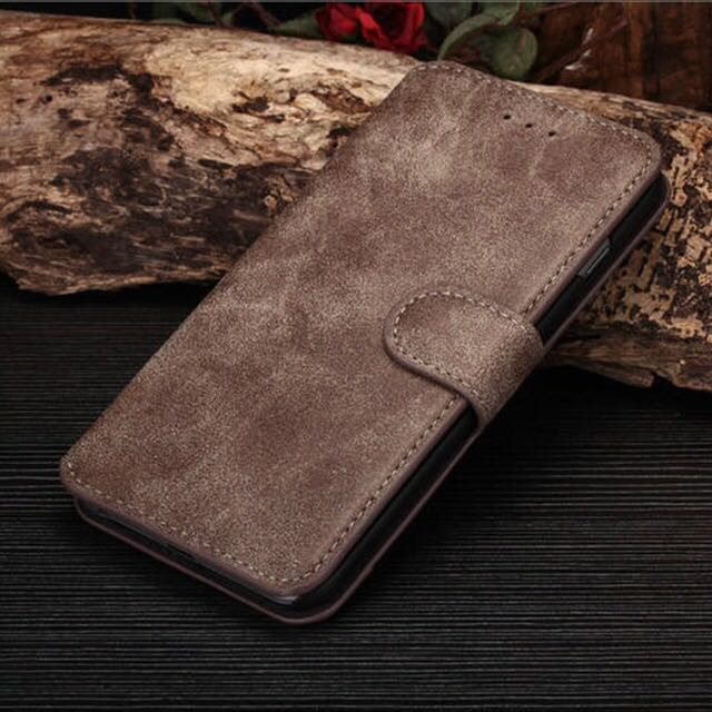 New luxury Leather Stand Case Cover Flip Wallet For iPhone 6/6s (CHARCOAL)