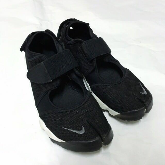 Nike Air Rift 忍者鞋 黑白 Us9 25 26 Uk6.5