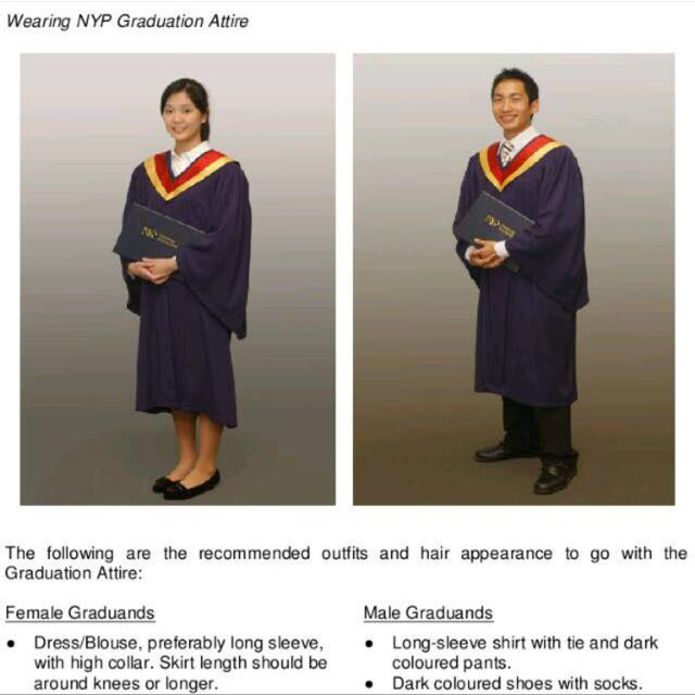 NYP Graduation gown for rent., Everything Else on Carousell