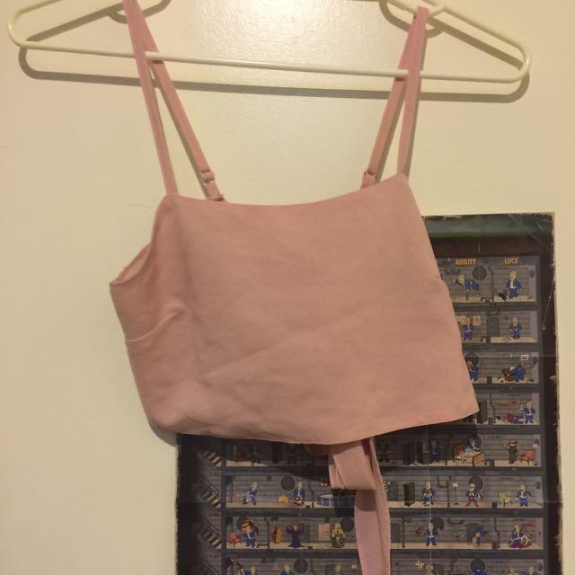 Pastel Pink Crop Top