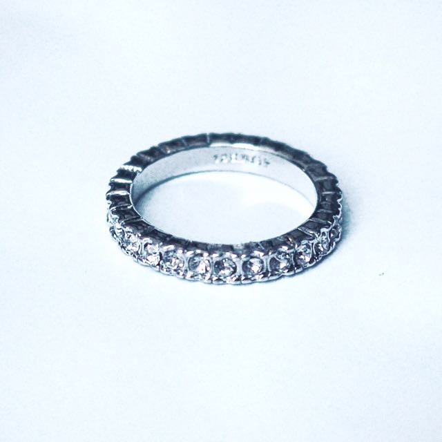 Platinum Plated Ring With Cubic Zirconia