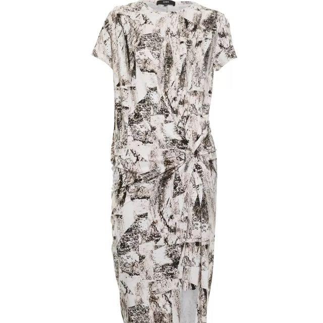 SABA Sandstone Print Jersey Dress Sz 6 BNWT Rrp:$199