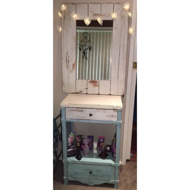 Shabby Chic Mirror And Table