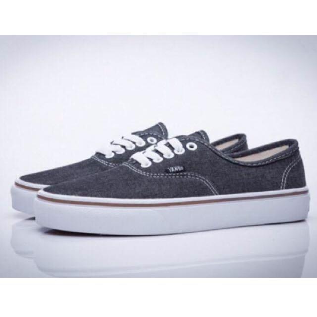 Vans Authentic Lite 滑板鞋 50周年 牛仔黑灰 情侶百搭鞋
