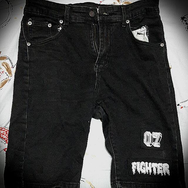 WDSK牛仔貼布短褲