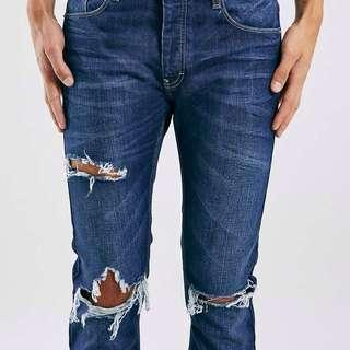 topman dark wash skinny jeans