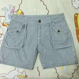 Roots條紋短褲