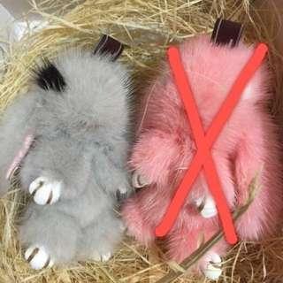 水貂毛兔子掛件 吊飾 鑰匙圈 老佛爺