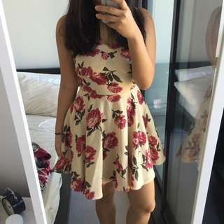 Nude Flower Dress