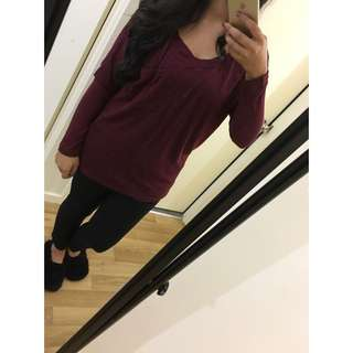 Burgundy 'Cotton On' Top
