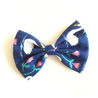 Hand sewn 8cm Hair Bow - Flamingo