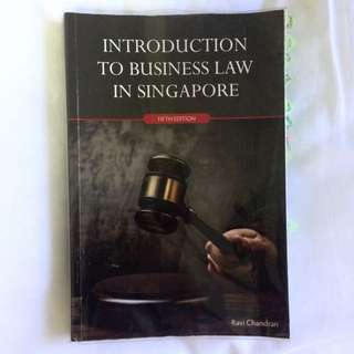 BSP1004 Introduction To Business Law In Singapore 5th Ed