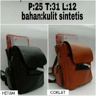 Leather Sintetic Back Pack