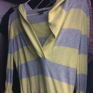 AX  Amani Exchange 氣質條紋薄織上衣