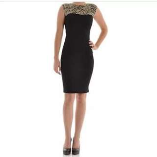 Ted Baker Amazing Panel Dress, Size 2 Which Is 8-10