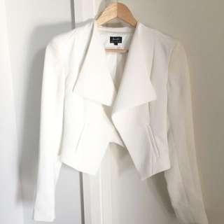 BARDOT Cropped Blazer/Jacket - White 6