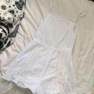 delicate white lace romper
