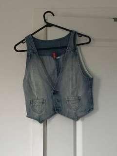 Denim waistcoat
