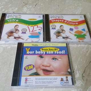 Baby VCD/DVDs (Brainy bb/Noddy/JayJay/Rubi)