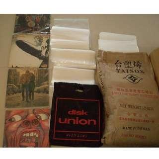 [黑膠] LP VINYL 透明塑膠袋 日規 DISK UNION 台塑原料 超厚 開口 外套 唱片