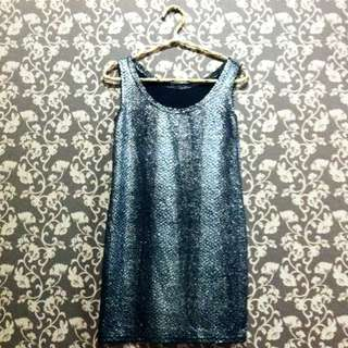 Mettalic Little Black Dress