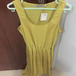 New Chic Simple Yellow Dress