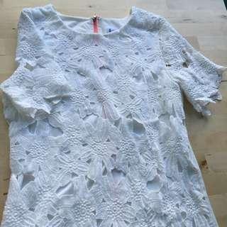 Lace Eyelet Dress