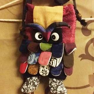 貓頭鷹拼布包