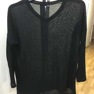 Black V-Neck Knit