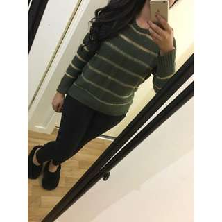 Khaki Metallic Jumper