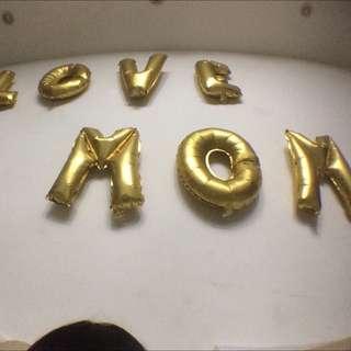 16寸金色字母氣球