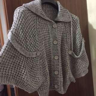 針織毛衣罩衫