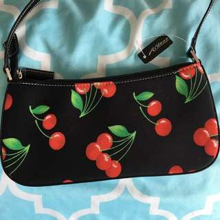 Cherry Print Rhinestone Mini Handbag Purse