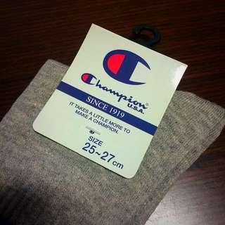 Champion 美國品牌 灰色 中筒襪 25~27cm