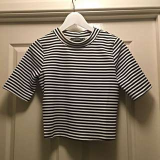 Glassons High Neck Striped Top