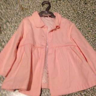 H&M 粉色薄外套
