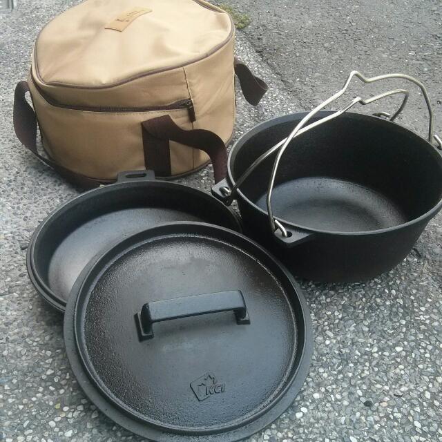 露營荷蘭鑄鐵鍋四件組