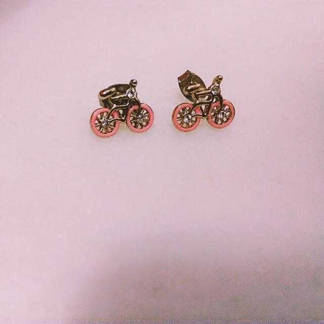 全新可愛腳踏車耳環