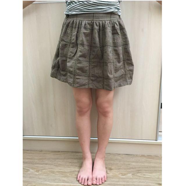 日系格子短裙