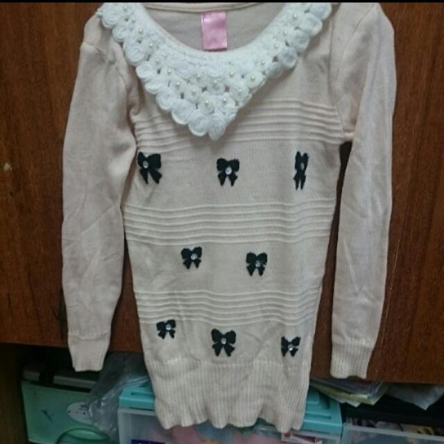 米白針織衣