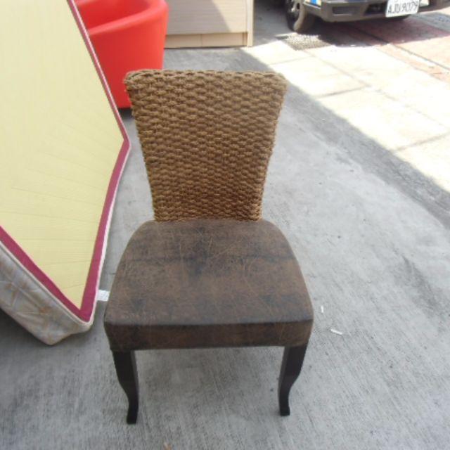 【全新庫存品】時尚編織餐椅 藤編簡餐椅 休閒椅 造型椅 餐廳椅 吃飯椅 西餐椅*全省收購/買賣*A1743