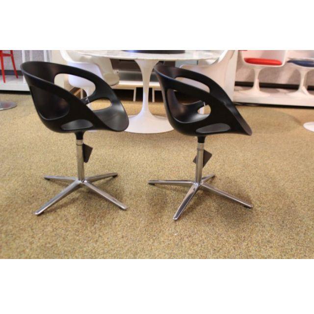 [保證真品] Fritz Hansen RIN HK10 丹麥 黑色塑料 星狀鐵腳 辦公椅 日本設計師