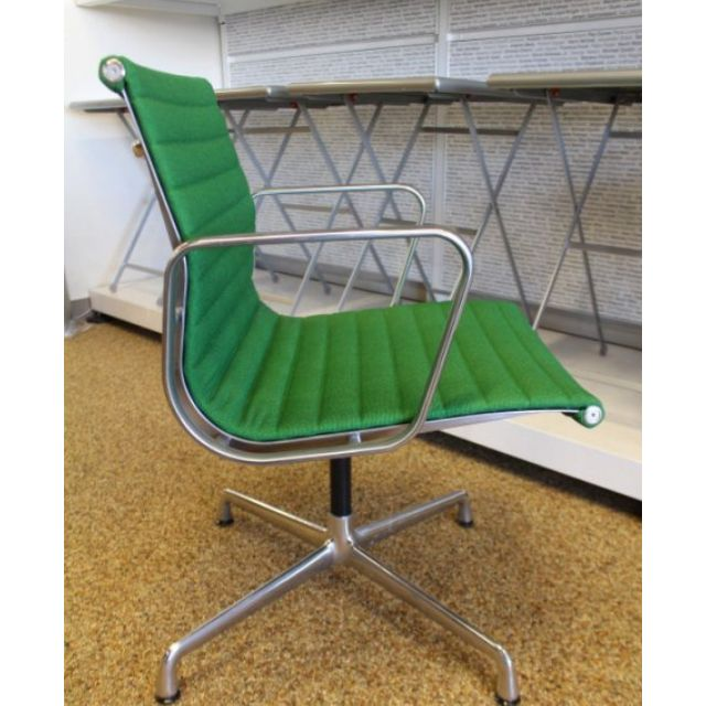 [保證真品] Herman Miller Eames Aluminum 鋁質 綠色 四星鐵腳 布料