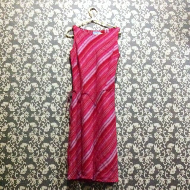 Accent - Red Stripped Dress